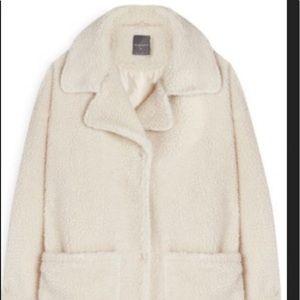 Primark shearling long coat size UK 12 US 8